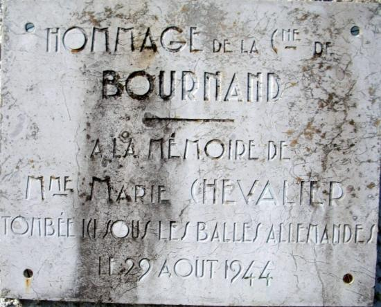 Plaque Bournand Marie Chevalier