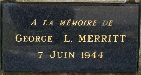 Plaque George L Merritt